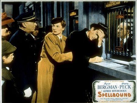 Scene from 'Spellbound,' starring Ingrid Bergman and Gregory Peck