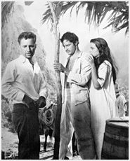 Kazan on the set of Viva Zapata, with Marlon Brando, and Jean Peters